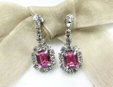 Dangling Swarovski Element Austrian Crystal Rhinestone Clip On Earrings