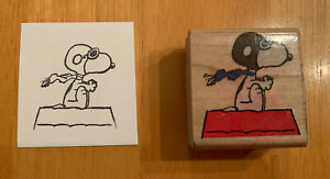 Flying Ace Snoopy Rubber Stamp Peanuts A401-C