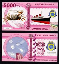 ILE JUAN DE NOVA ● TAAF / COLONIE ● BILLET POLYMER 5000 FRANCS ★ N.SERIE 000010
