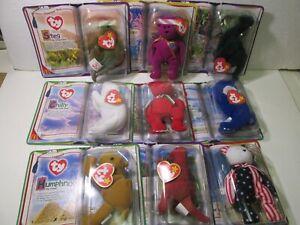 McDonald's Set Of 9 TY Teenie Beanie Babies Happy Meal Toy 2000 t5142