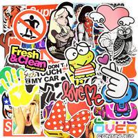50 Rock Stickerbomb Sexy Girl Retrostickern Aufkleber Sticker Mix Decals Frosch