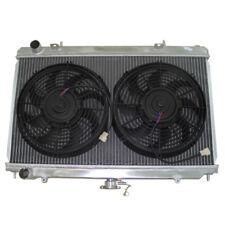 Aluminum 2 Rows Radiator For 95-99 Nissan 240SX S14 KA24 MT + Fans