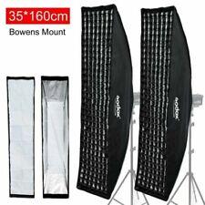 "2PCS Godox Strip Beehive Softbox 35x160cm /14""x63""w/ Honeycomb Grid Bowens Mount"