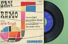 ARMANDO SCIASCIA / San Remo En Swing / BELTER 50.417 Press. Spain 1961 EP 45 EX