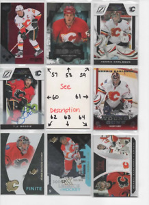 Calgary Flames *** SERIAL #'d Rookies Autos Jerseys *** ALL CARDS ARE GOOD CARDS