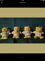 "Vintage Angel Bear's Christmas Ornament Made in Taiwan 2 3/4"" Ceramic Set 4"