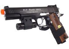 NEW 500 FPS WG BLACK M1911 1911 Non-Blowback CO2 Gas Airsoft Pistol Gun + LASER