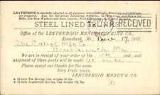 Leatheroid Mfg Co Kennebunk ME 1902 Postal Card
