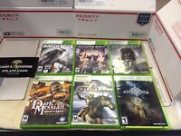 Xbox 360 6 Game Lot Watchdogs Infinite Undiscovery Dark Messiah and 3 more