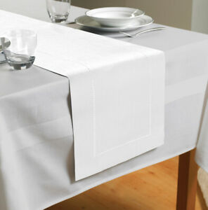 Country Club Table Runner, White Party Table Decoration Cloth Xmas Home Style