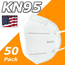 50 Pack Kn95 Face Mask Disposable Protective 5 Layers Cover Pm2.5 Respirator