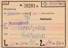 Vieux Billet train de 1970 pour 14,60dm (agk1716)