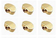Set 6 Pcs Guitar Metal Machine Head Tuner Buttons for Guitar BT-16GD New Gold