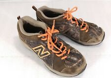 New Balance 624 Us 6 Boys Brown Camo Orange Lace Up Non Marking