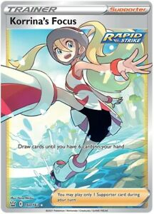 POKEMON TCG SS BATTLE STYLES : KORRINA'S FOCUS RAPID STRIKE 160/163 - FULL ART