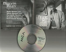 Ready for the World MELVIN RILEY What Makes a man 5TRX w/ INSTRUMENTAL PROMO CD