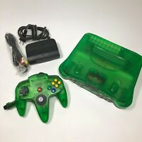 Nintendo 64 Launch Edition Console Jungle Green Bundle w/ Matching Controller!