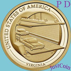 2021 P&D VIRGINIA (VA) INNOVATION DOLLARS TWO UNCIRCULATED DOLLARS SET * PRESALE