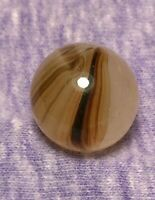 ".62"" Brushed Mossy Chocolate OXBLOOD Brown Patch Vintage MASTER Marbles ? Akro ?"