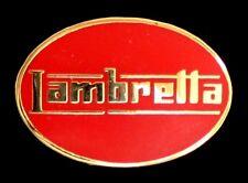 "SCOOTER ""LAMBRETTA OVAL LOGO"" RED ENAMEL PIN BADGE"
