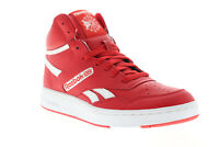Reebok BB 4600 EH2137 Mens Red Leather High Top Basketball Sneakers Shoes