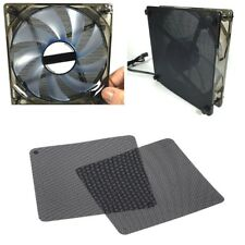 2pcs 12cm Dust Proof Net Computer Fan Case Cooler Filter Dustproof Mesh Cuttable