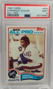 """Lawrence Taylor Rookie 1982 Topps Football #434 PSA-9 """"Dead Centered"""""""