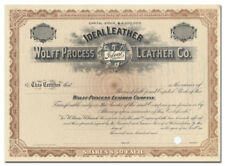 Wolff Process Leather Company Stock Certificate (Ideal Trademark)