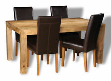 Solid Wood Dining Tables Sets with 4 Seats