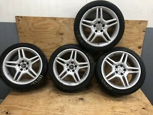 Seat Of 4 Factory Mercedes-Benz AMG E55 Wheel OEM 18 A2114012602 2003 2006 👌