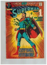 Superman 233  Classic Neal Adams Cover!  Kryptonite Nevermore!  VG  DC Comic