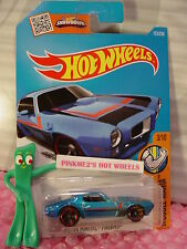 2016 i Hot Wheels '73 PONTIAC FIREBIRD #123✰Candy Blue; Red✰Muscle Mania✰Case J