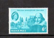 Bahamas 1964 400th Anniv of Shakespeare MNH set