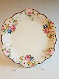 MIKASA CAKE PLATE - FLORAL - AS NEW