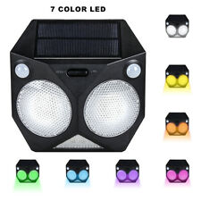 Solar Lights Outdoor Motion Sensor Color Changing Porch Lights for Wall Decor