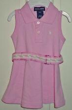 RALPH LAUREN LT PINK DRESS/ PANTIES/BELT 9 M NWT