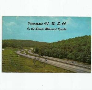 Vintage Postcard View of Interstate U.S. Highway Route 66 In The Missouri Ozarks