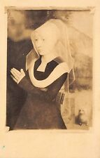 B78149 hans memling femeie inchinanduse sibiu painting postcard romania