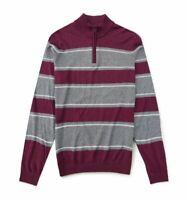 Pullover Homme Col Zippé LACOSTE DEVANLAY Laine-Coton Gris-Bordeau T.3XL = 8