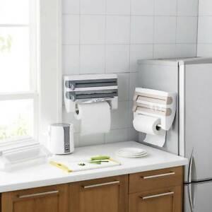 Kitchen Roll Dispenser Cling Film Tin Foil Storage Rack Wall Mounted Holder UK