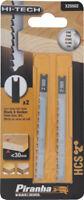 2 Pz lame fresate per legno attacco U piranha X25502 taglio fine <60 mm B&D