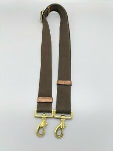Mulberry Replacement Long Strap for Bag in Brown Canvas /Oak Leather