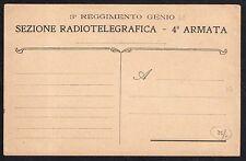 CARTOLINA Militare in franchigia 1916 3 Regg. Genio 4° Armata NUOVA (FILm)