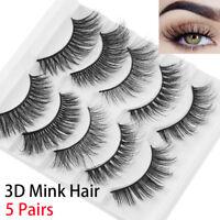 SKONHED 3D Mink Hair Wispies Fluffy False Eyelashes Reusable Natural Lashes