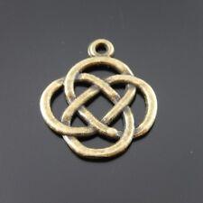 50 Stück Antike Bronze Legierung Chinesische Knoten Kunst Charme Anhänger 38325