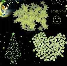 Wall Light  Star Stickers Decal Baby Kids Room 100pcs HL Green Glow In The Dark