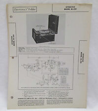 Vintage Photofact Folder Dynavox Model M-510 Radio Parts Manual