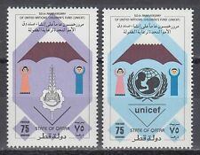 Qatar 1996 ** Mi.1097/98 UNICEF Kinderhilfswerk Fund