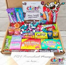American Sweets Mixed Candy Hamper Box 50 Pieces Reeses Nerds Airheads Warheads