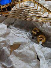 "ROHL BSK17IB BATH ACCESSORIES, 8"", Italian Brass, corner soap basket"
